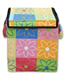 Dizen Star Polyester Multi-Purpose Foldable Laundary Basket for Kids Toy Storage, 40cm, Multicolour