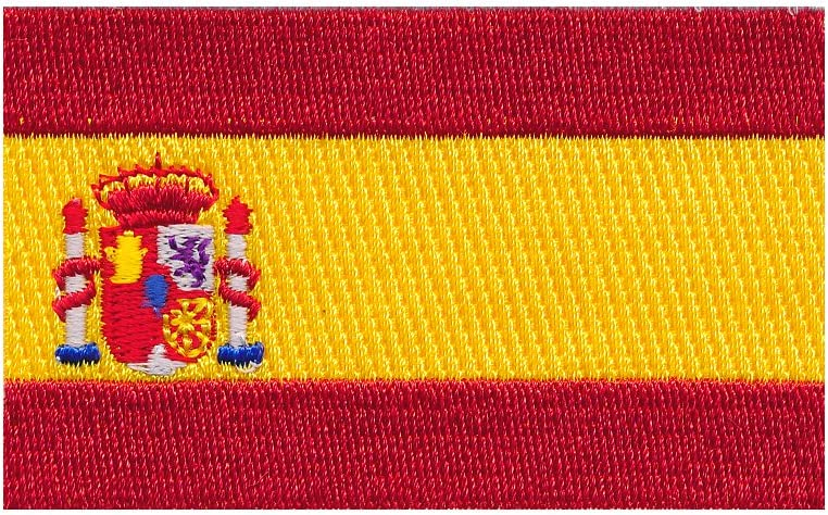 Hegibaer 30 X 20 Mm Spanien Flagge Spain Flag Barcelona Patch Aufnäher Aufbügler 0678 Mini Auto