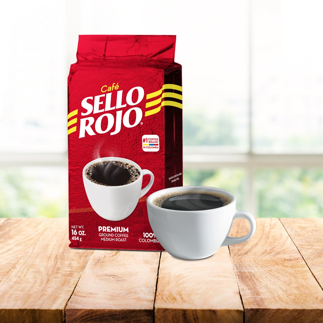 Sello Rojo Roast & Ground Coffee, 17.6-ounce (Pack of 10) by Sello Rojo