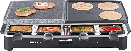 8 Padelline Severin RG 2341 Raclette PartyGrill Multifunzione