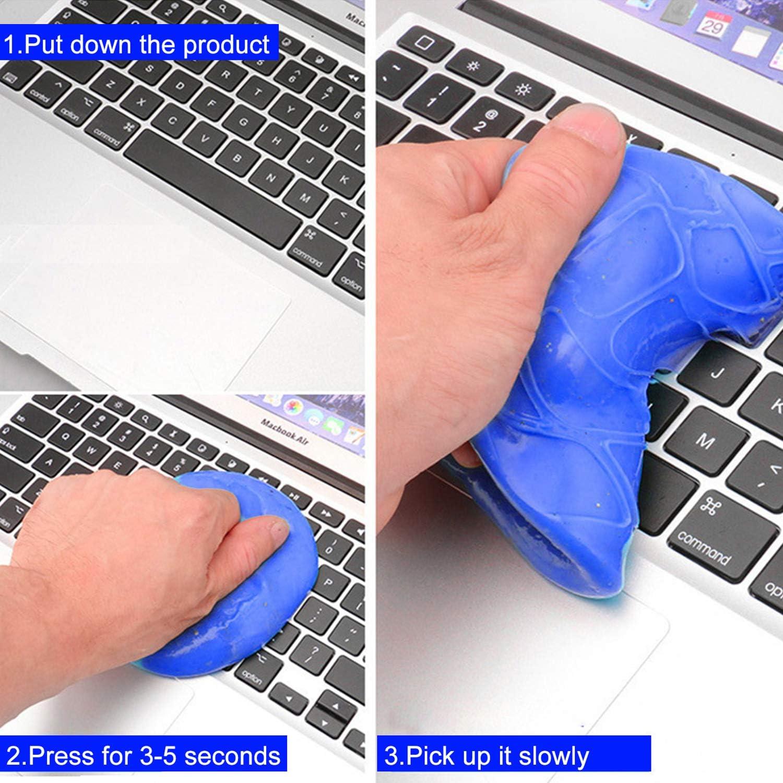 Petalum Tastatur Reinigung Gel Auto Staub Schmutz Reiniger Keyboard Cleaner Staubreiniger f/ür PC Computer MacBook Laptop Keyboard Fernbedienung