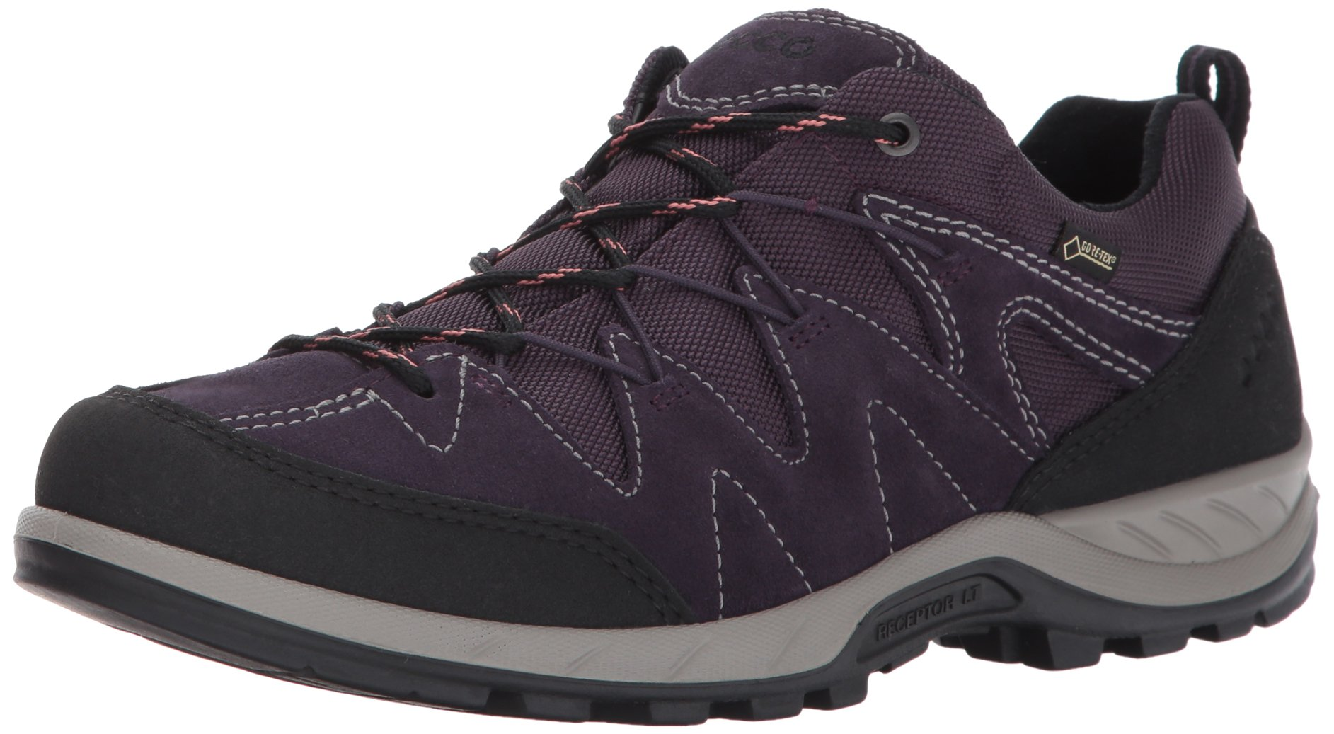 ECCO Women's Yura Low Gore-Tex Hiking Shoe, Black/Night Shade, 42 EU / 11-11.5 US