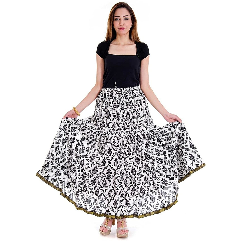 Sanganeri Fleur De Lis Printed Wrap Arround Skirt