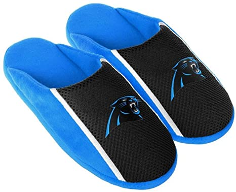 new product 0a5ef dad8b Carolina Panthers NFL Mens Jersey Slide Slipper Adult Sizes
