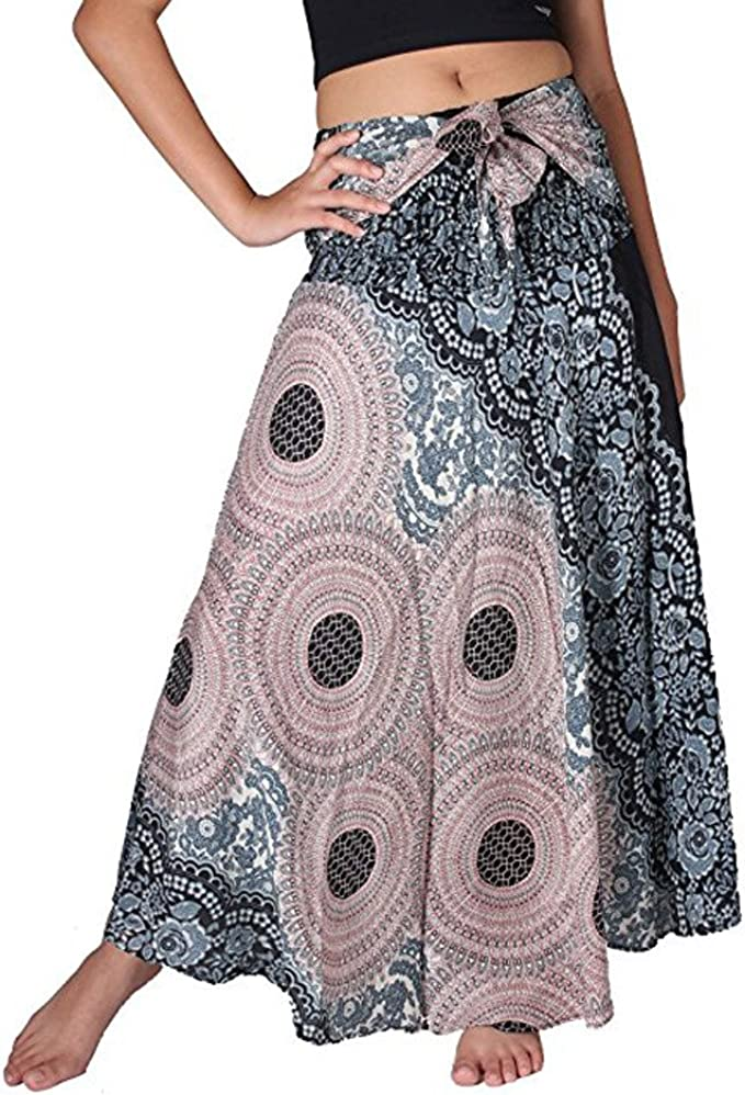 Falda Larga Mujer Playa Vestido Verano Bohemio Gitano Hippie ...