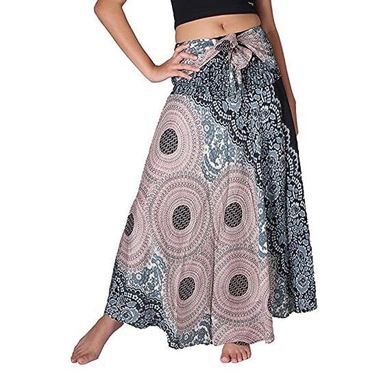 Gusspower Faldas Largas Bohemias con Cordones Faldas Hippies Mujer ...