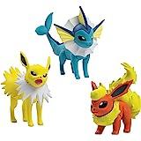 TOMY - T18661A - Pack 3 Figurines de Combat - Pyroli - Voltali - Aquali