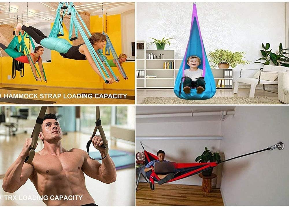 Moligh doll Stainless Steel Suspension Ceiling Hook for Hanging Yoga Swing Hammock Boxing Punch Bag Gym Wall Ring Hook
