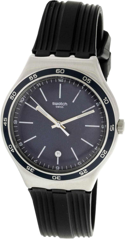 Swatch Camarade YWS428 Reloj de Cuarzo Suizo de Caucho Plateado
