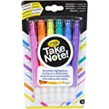 Crayola Erasable Highlighter Crayola Take Note! Erasable Highlighter Markers, 6 Count, Great for Highlighting Textbooks, School Work, Documents and Bullet Journalling, Assorted, 6 Count 6 (58 6504)