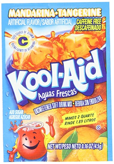 Kool-Aid Aguas Frescas Mandarina-Tangerine Unsweetened Soft Drink Mix, 0.16-Ounce