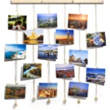 TWING Hanging Photo Display Picture Frames Collage with 30 Clips 26×29 inch - Collage Artworks Prints Multi Pictures…