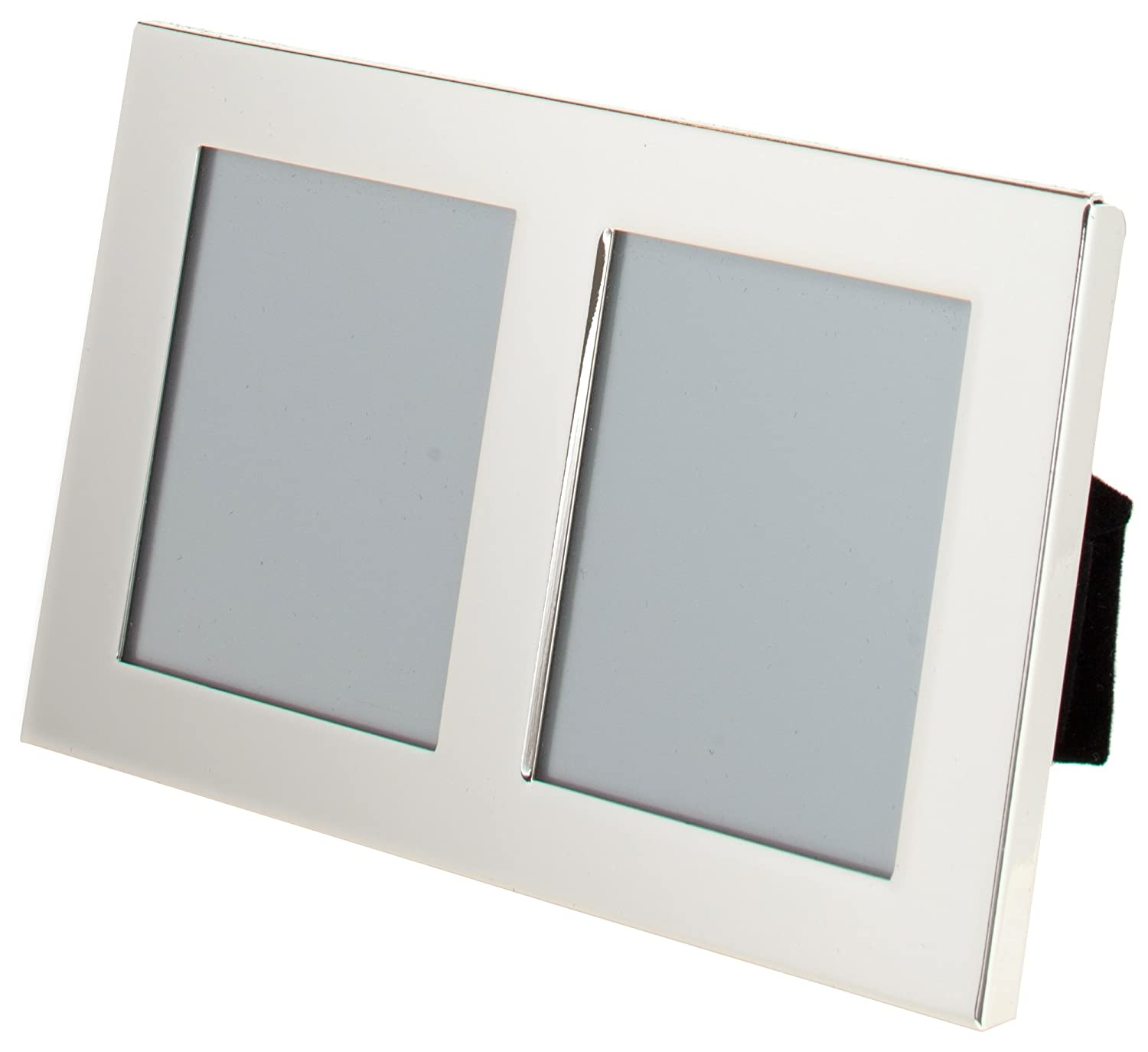 Unity 2.5 x 3.5-inch Portrait Double Photo Frame, Silver Plated ...