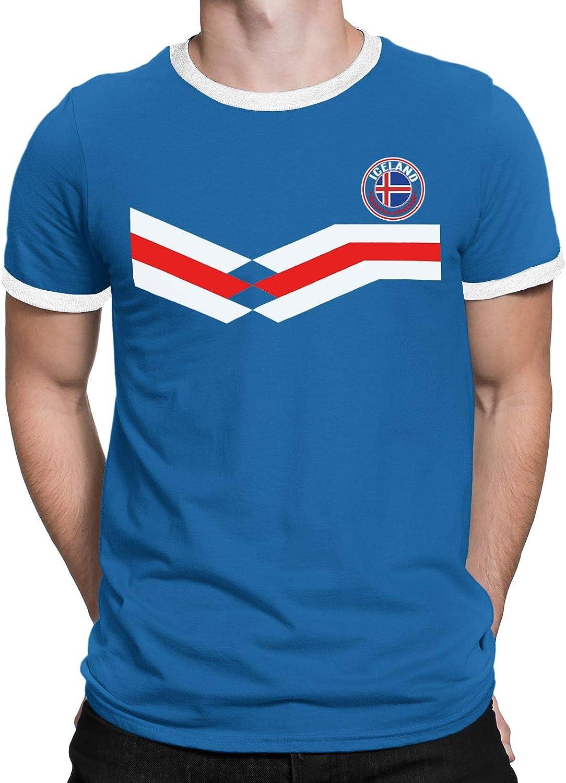 Tee Spirit Iceland Camiseta Para Hombre World Cup 2018 Fútbol New Style Retro: Amazon.es: Ropa y accesorios