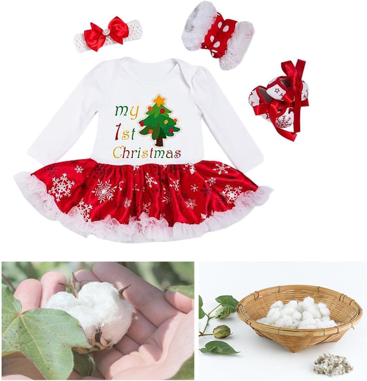 Fascia Scarpa OFKPO Set di 3 Bambina Natale Costume Abito