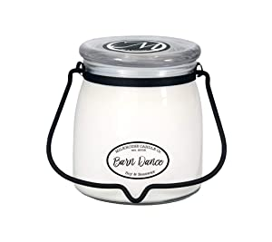 Milkhouse Candle Creamery Scented Soy Candle: Butter Jar Candle, Barn Dance, 16-Ounce