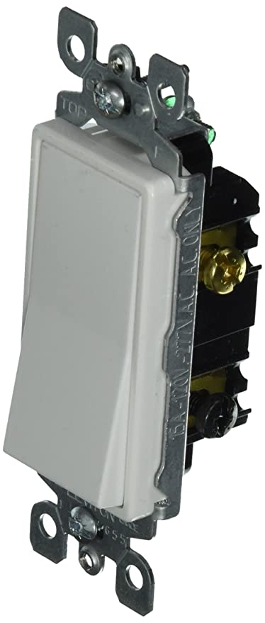 Leviton 5613-2W 15 Amp, 120/277 Volt, Decora Rocker Lighted Handle ...