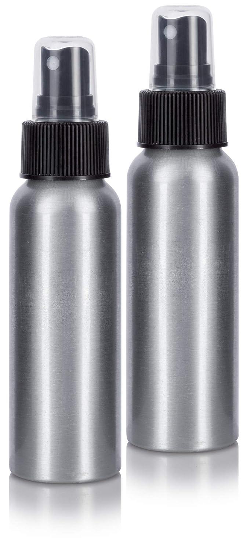 c16791863d60 Aluminum Refillable Travel Spray Bottle Mister - 2.7 oz (2 Pack ...