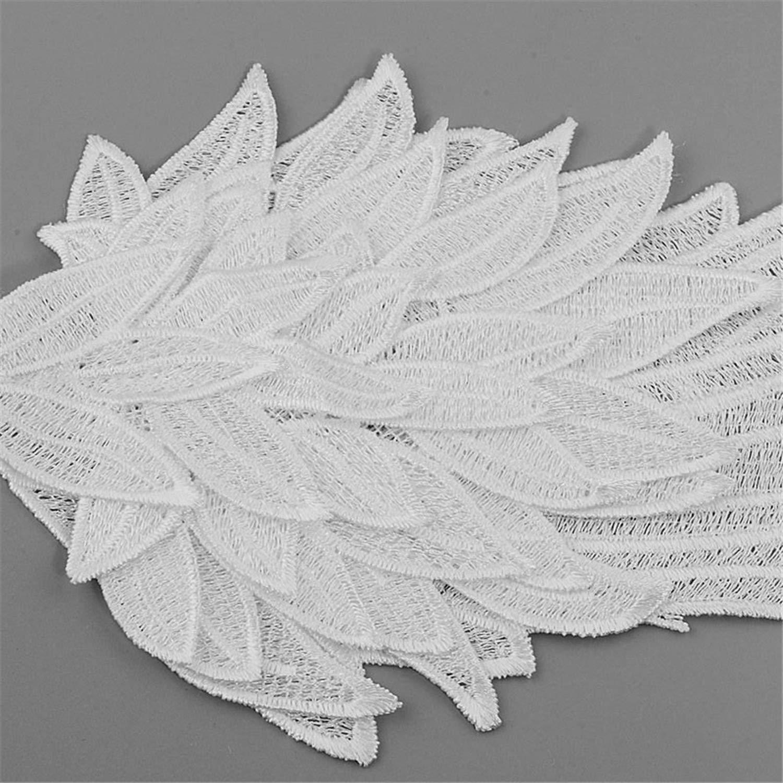 Alas de ángel bordadas con encaje de tela de hombro Venise ...