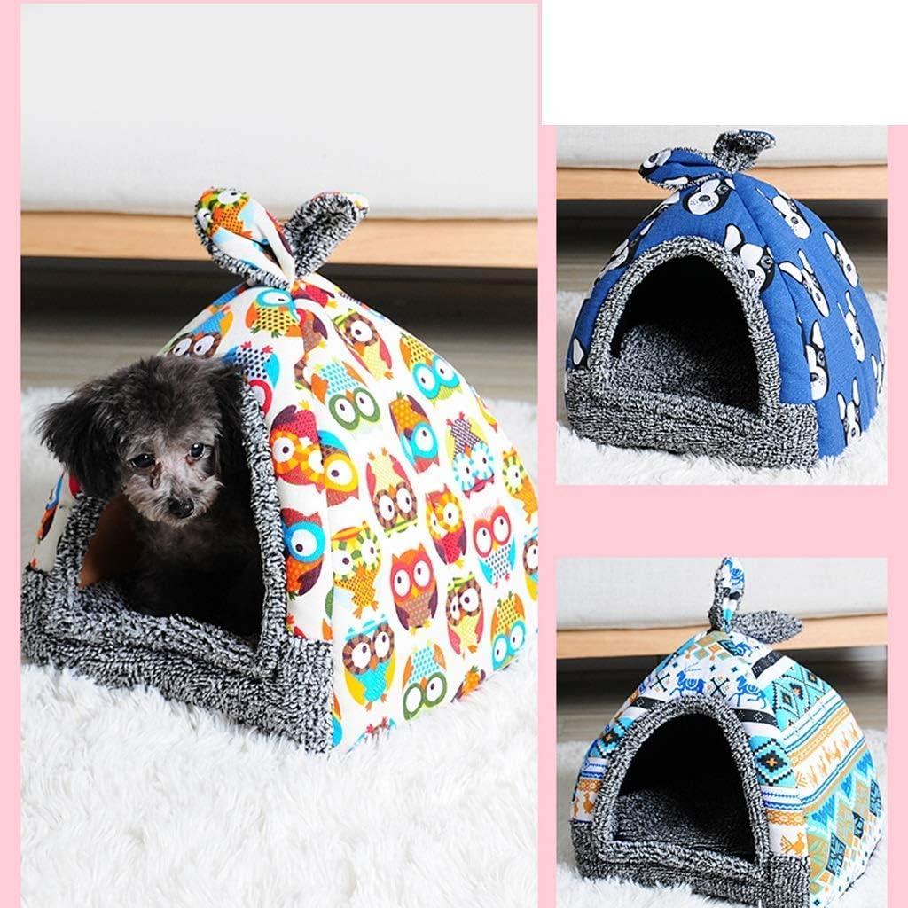YQ WHJB Pet House 2 in 1 zachte en warme Wukong Pet Nest anti-slip Hond Kat Bed opvouwbare winter zachte en comfortabele slaapzak Mat kussens (grootte: 52x48x39cm) 3