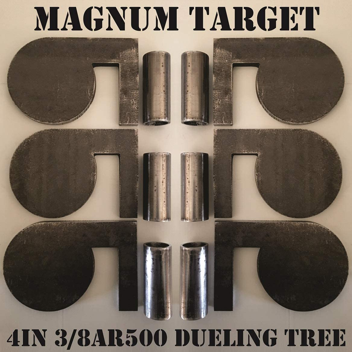 """Set Of 4 AR500 Steel 6/"""" x 3//8/"""" Shooting Targets Gong Style"""