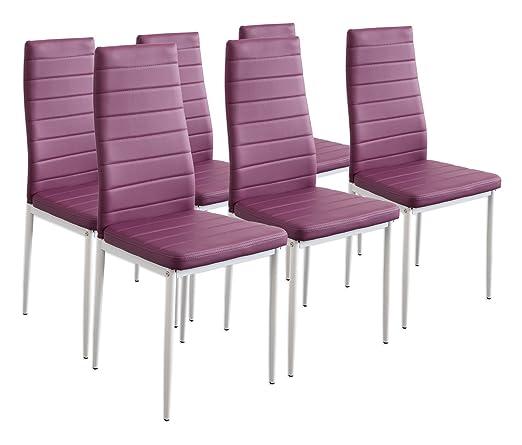 238 opinioni per Albatros 2708 MILANO- Set di 6 sedie da pranzo, porpora