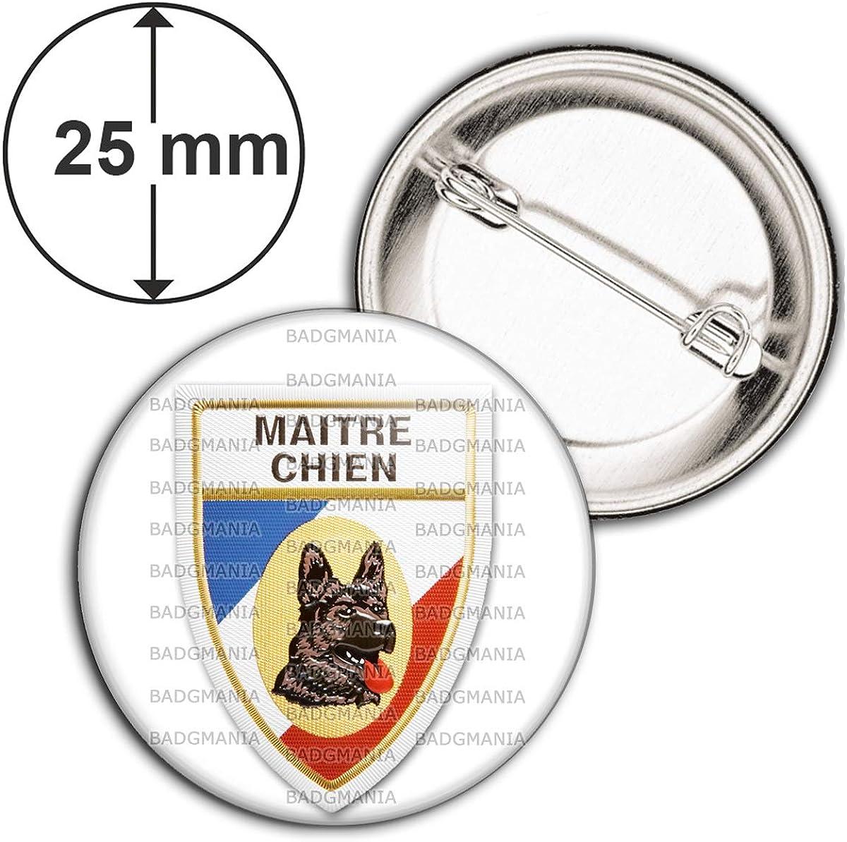 Badge 25mm Ecusson Maitre Chien Berger Allemand Pins Bouton Epinglette