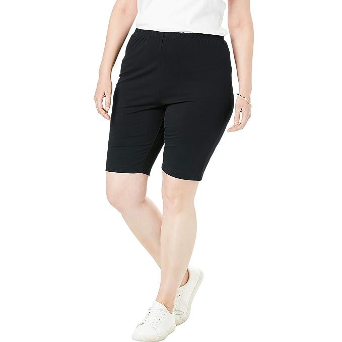 8d01eec6336 Amazon.com  Woman Within Women s Plus Size Stretch Cotton Bike Short ...