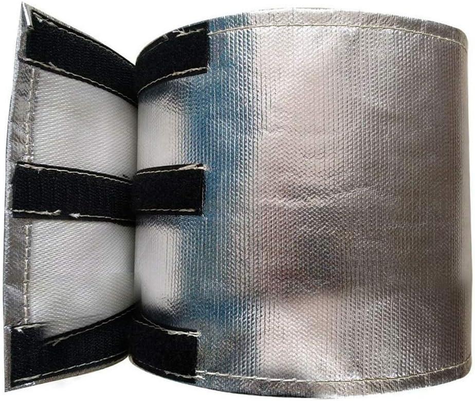 ManTou01 Pare-Chaleur de D/émarreur Protection Isolation Haute Temp/érature Fibre de Verre Versa Protection Aluminis/ée Argent/é 7 x 24 cm