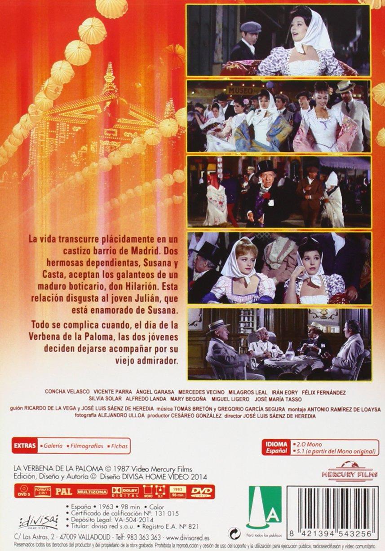 Spanish movie Poster for film VERBENA de la Paloma.Spain.Conchita Velasco art