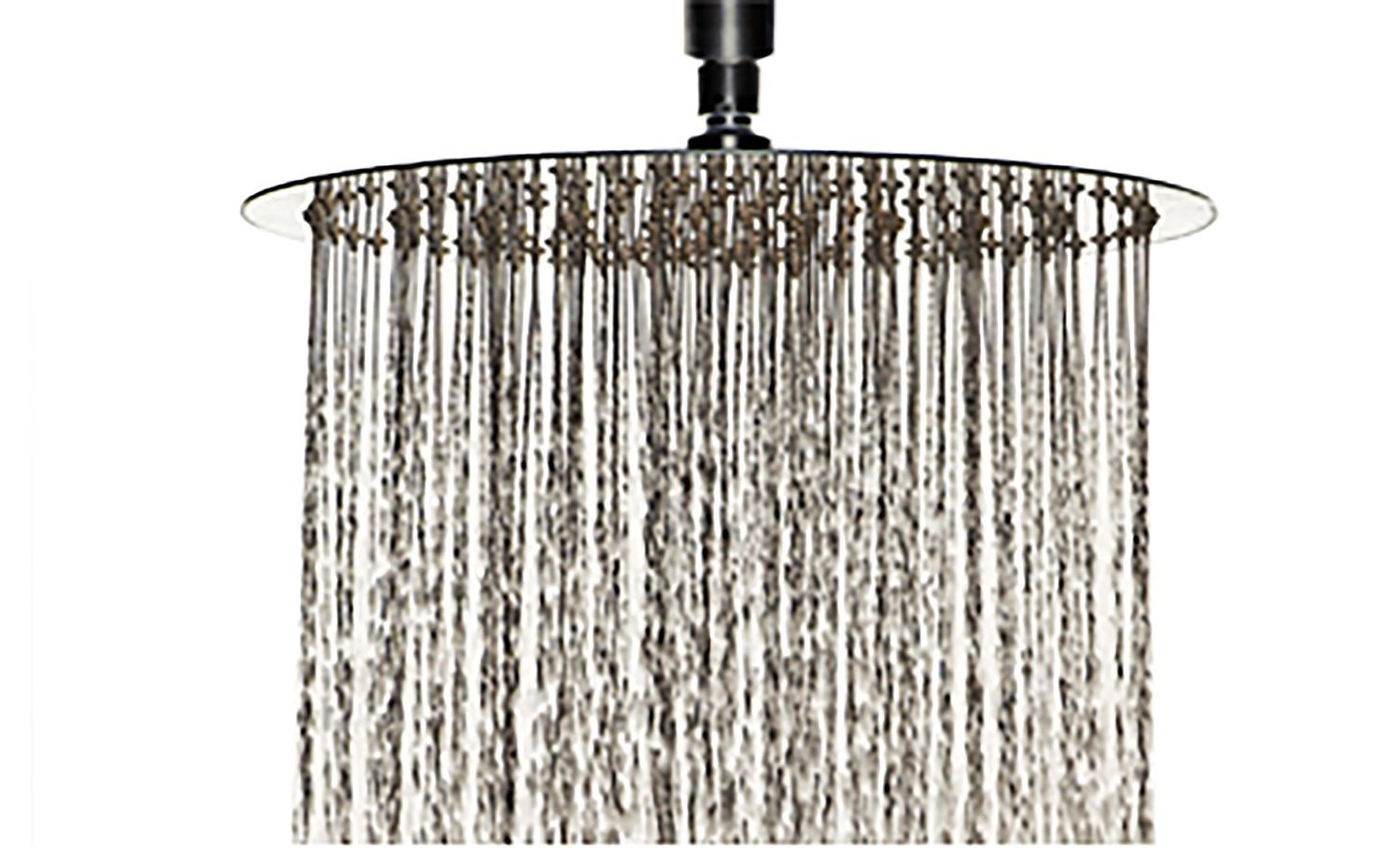 delicate Cb's Bundles 8 Inch Chrome Rainfall High Pressure Shower Head - 2.5 GPM Low Flow Rate Fixed Waterfall Showerhead
