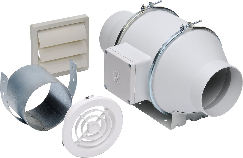 Soler & - Palau Kit-Td100X - Kit de ventilador de escape en línea ...