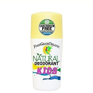 Kids Natural Deodorant Food Grade Organic Children