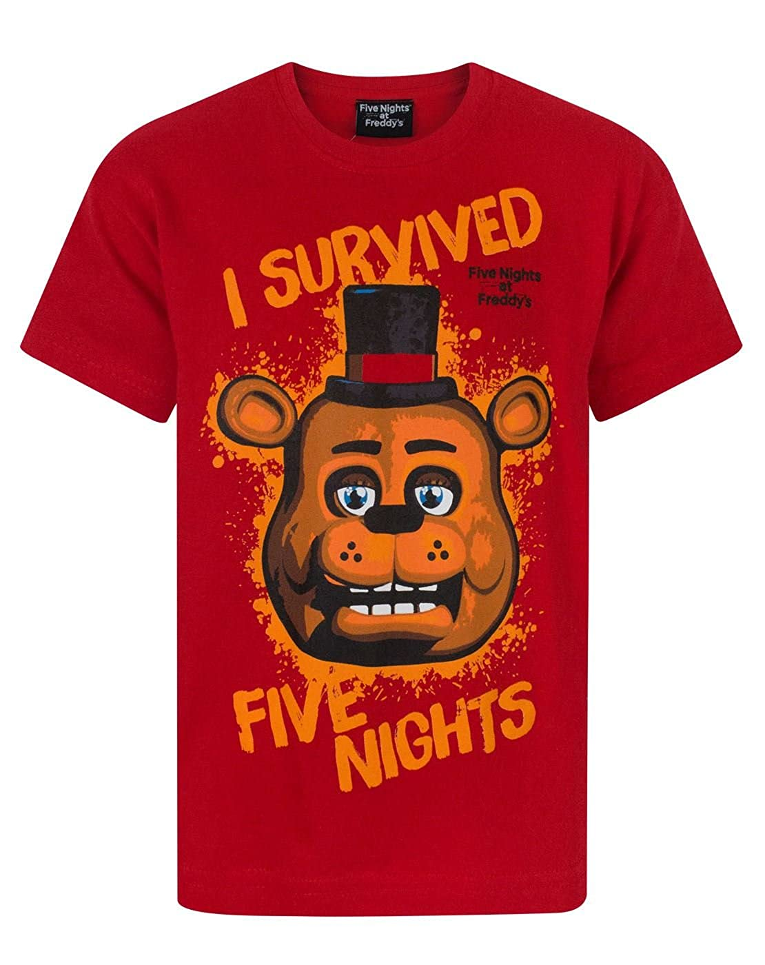 FIVE NIGHTS AT FREDDYS I Survived Boys T-Shirt