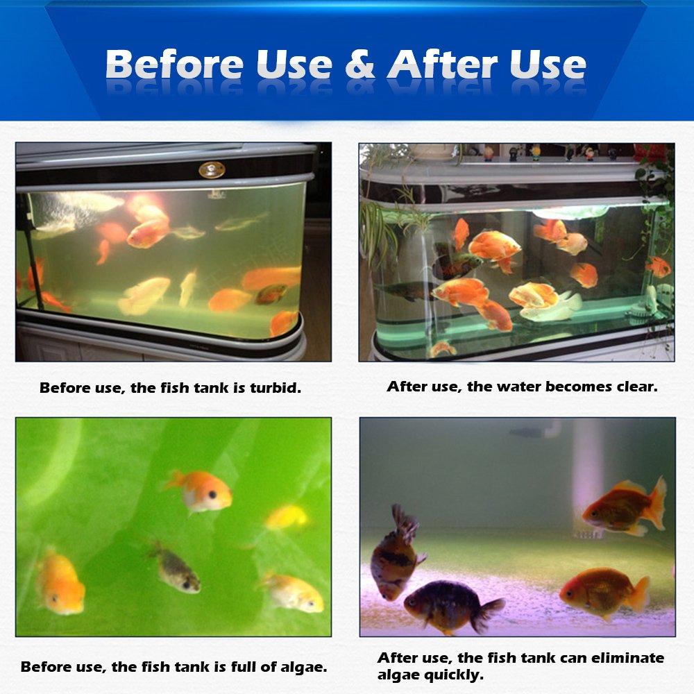 Anself - Lámpara Esterilizador de Acuario Peceras (Sumergible,Luz UV,Tratamiento de Desinfección del Agua de Tanque de Peces): Amazon.es: Hogar