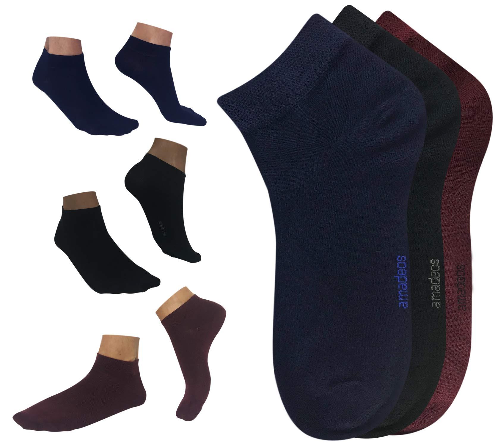 Calcetines cortos hombre mujer de bambu negros Amadeos Ecologicos product image