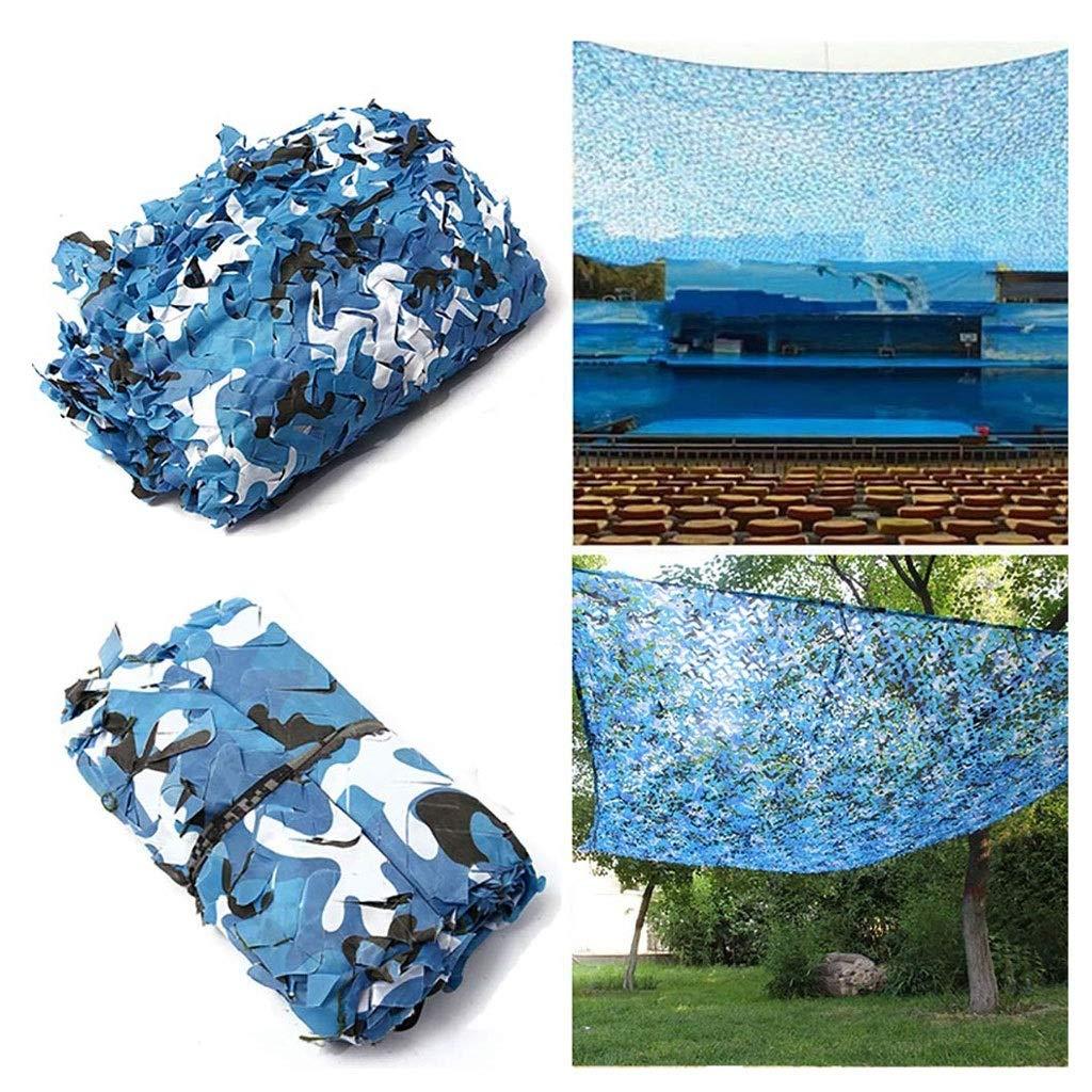 36M(9.819.7ft) Ombrage Filet Bleu Camouflage Net Oxford Auvent En Tissu 2x3m Enfants En Plein Air Camping Jardin Décoration Vie Privée Armée Armée Caché Camouflage Chasse Tir 5x8m ( Taille   48M(13.126.2ft) )