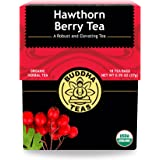 Organic Hawthorn Berry Tea – 18 Bleach-Free Tea Bags – Caffeine-Free Tea with an Herbal Flavor and Digestion Aiding Propertie