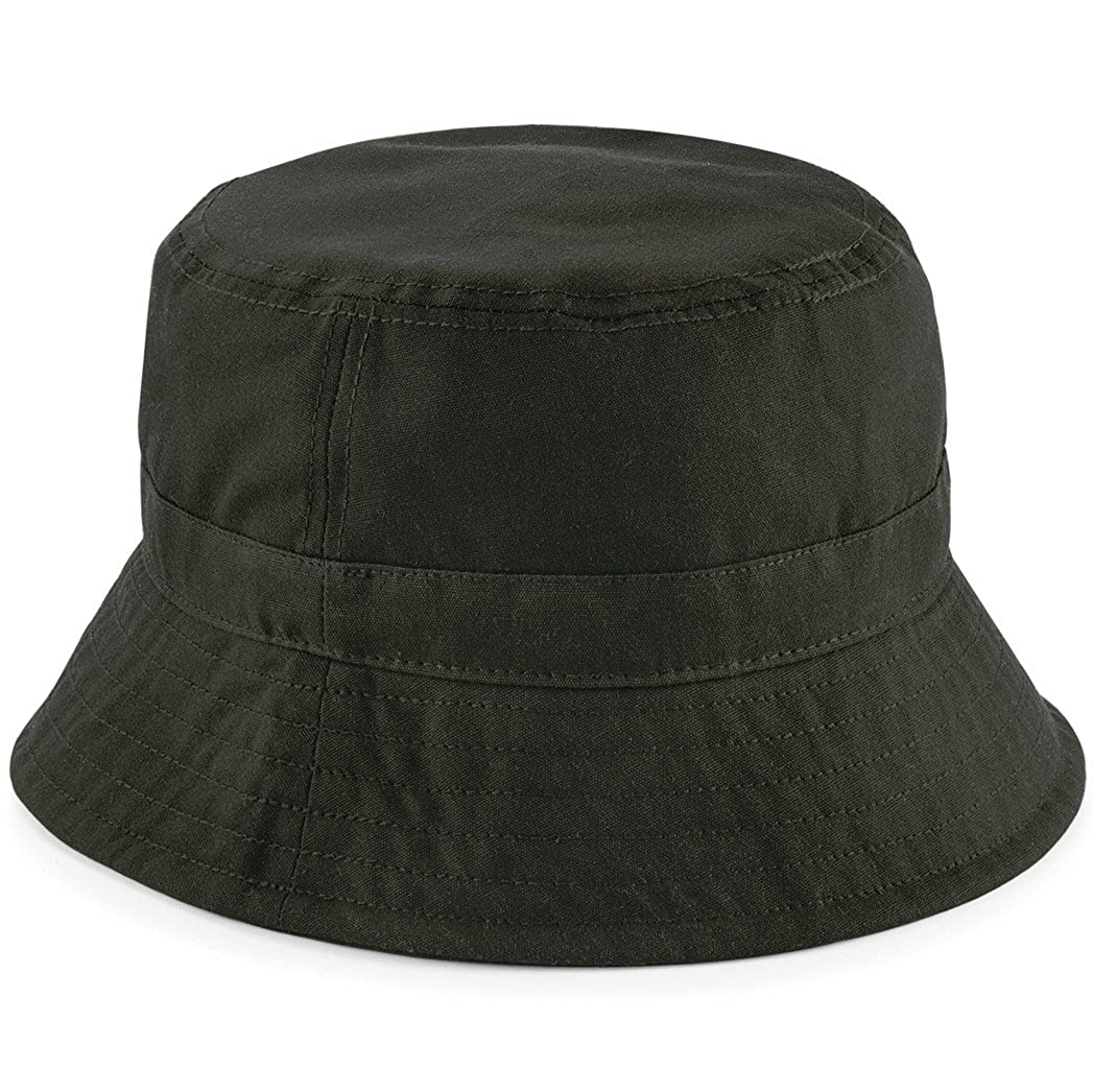 Beechfield Waxed Bucket Hat - Sizes S/M and L/XL