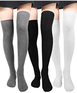 14a9225657460 Women Thigh High Socks Knit Over Knee High Stockings Girls Tall Long Boot  Leg Warmers