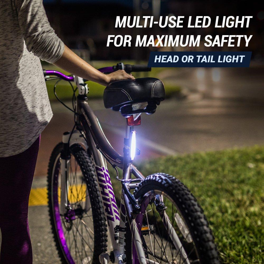 Rear Bike Light Flashing Or Steady Bicycle Tail