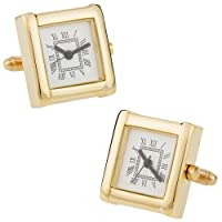 Working Gold-Tone Watch Cuff Links by Cuff-Daddy