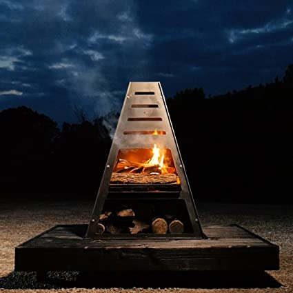 Amazon Com Bad Idea Pyro Tower Steel Fire Pit Charcoal Grill Metal