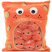 Miss House New Yummy Cheese Puff Stuffed Toy Game Pillow, Cute Plush Cheesy Puffs, Cushion, Delicious Food Dessert…