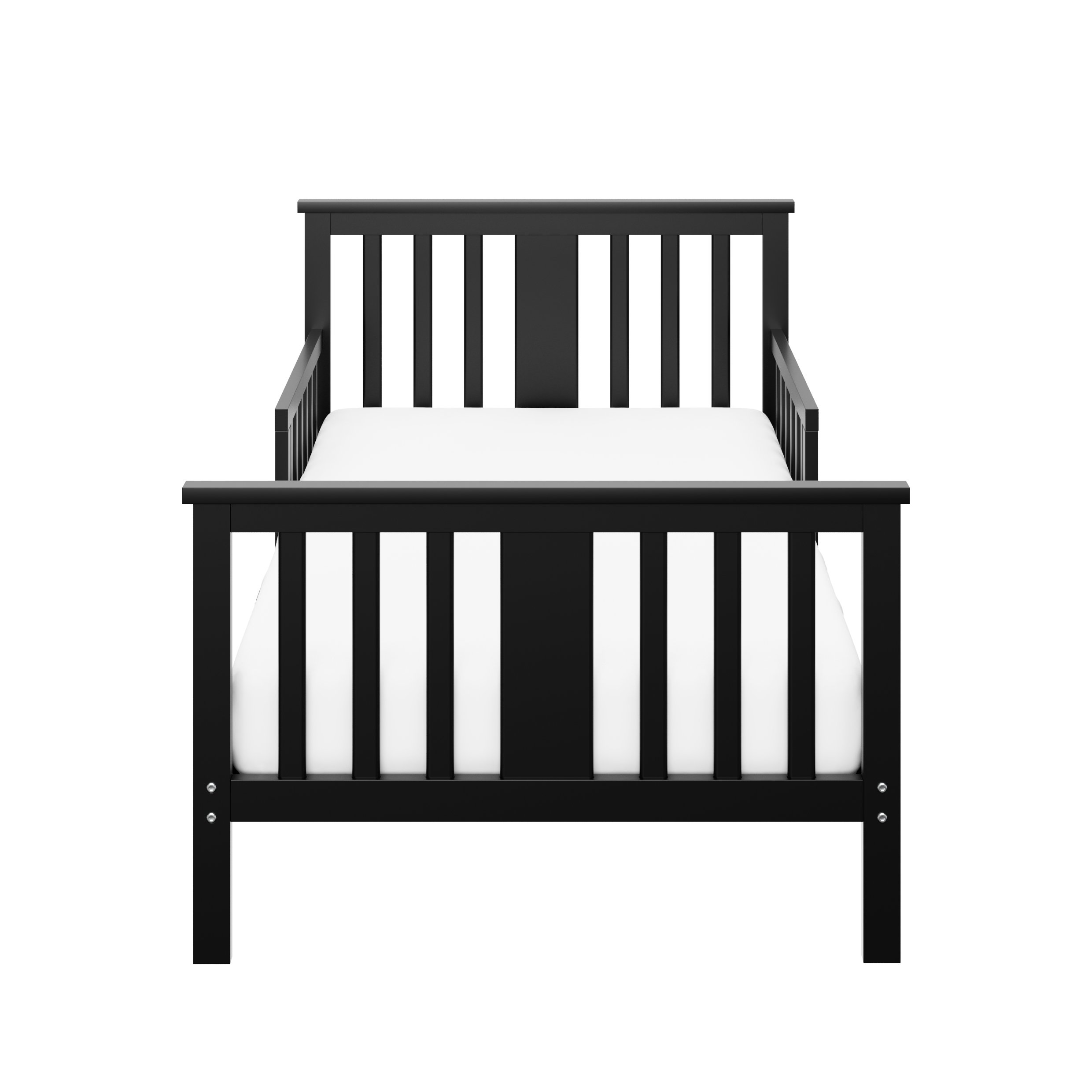 Storkcraft Mission Ridge Toddler Bed Black, Fits Standard-Size Toddler Mattress (Not Included), Guardrail on Both Sides, Meets or Exceeds All Federal Safety Standards, Pine & Composite Construction by Stork Craft (Image #1)