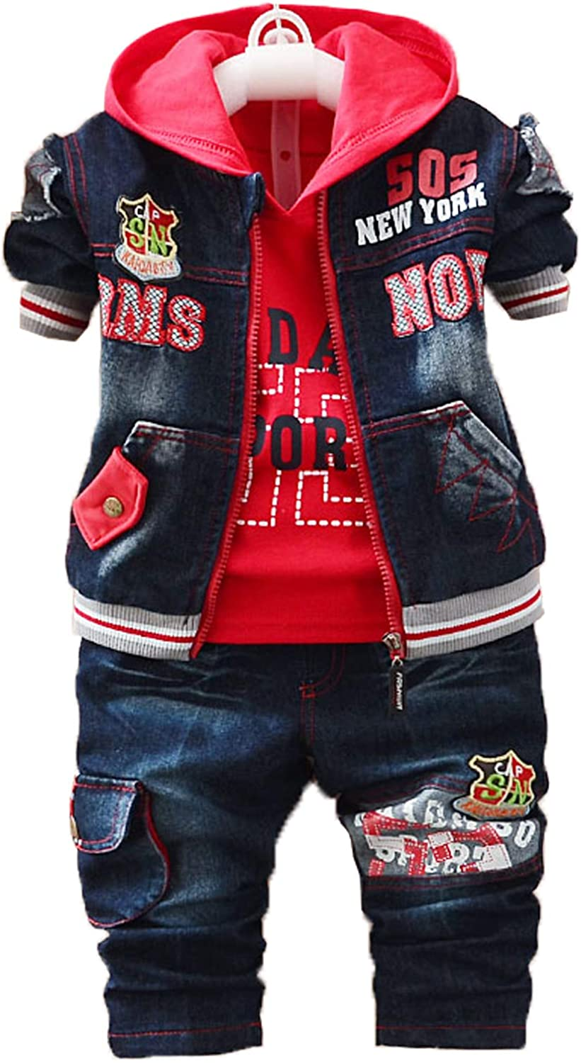 Yao Spring Autumn Baby Boys 3pcs Clothing Set Cotton Shirt...