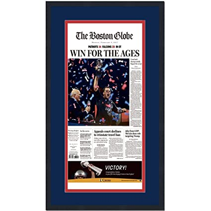 Amazon com: Framed Boston Globe Win For The Ages New England