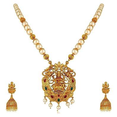 Buy MEENAZ Temple Jewellery Traditional One Gram Lakshmi