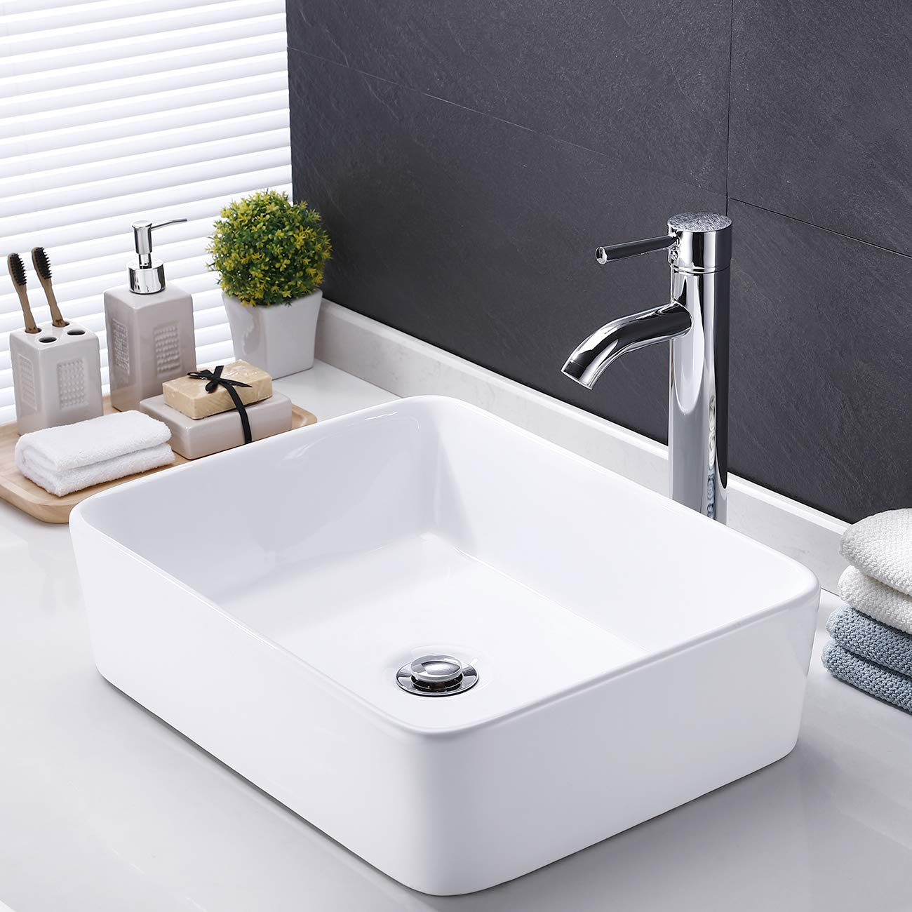 Astounding Kes Bathroom Vessel Sink 19 Inch White Rectangle Above Counter Countertop Porcelain Ceramic Bowl Vanity Sink Cupc Certified Bvs110 Download Free Architecture Designs Viewormadebymaigaardcom