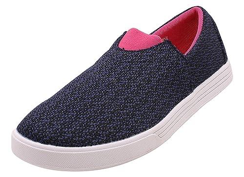 77fe0b9e792 Kook N Keech Women Navy Blue Woven Slip-On (7UK)  Buy Online at Low ...